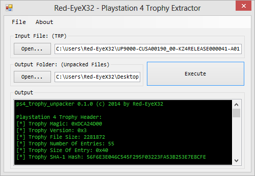 PS4 Trophy Extractor