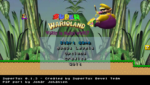 Super WarioLand: Wario in Mario World (Supertux Mod)