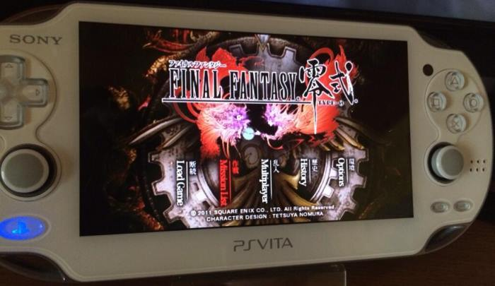 FF Type 0, English translation running on the PS Vita (thanks to @The_Zett)