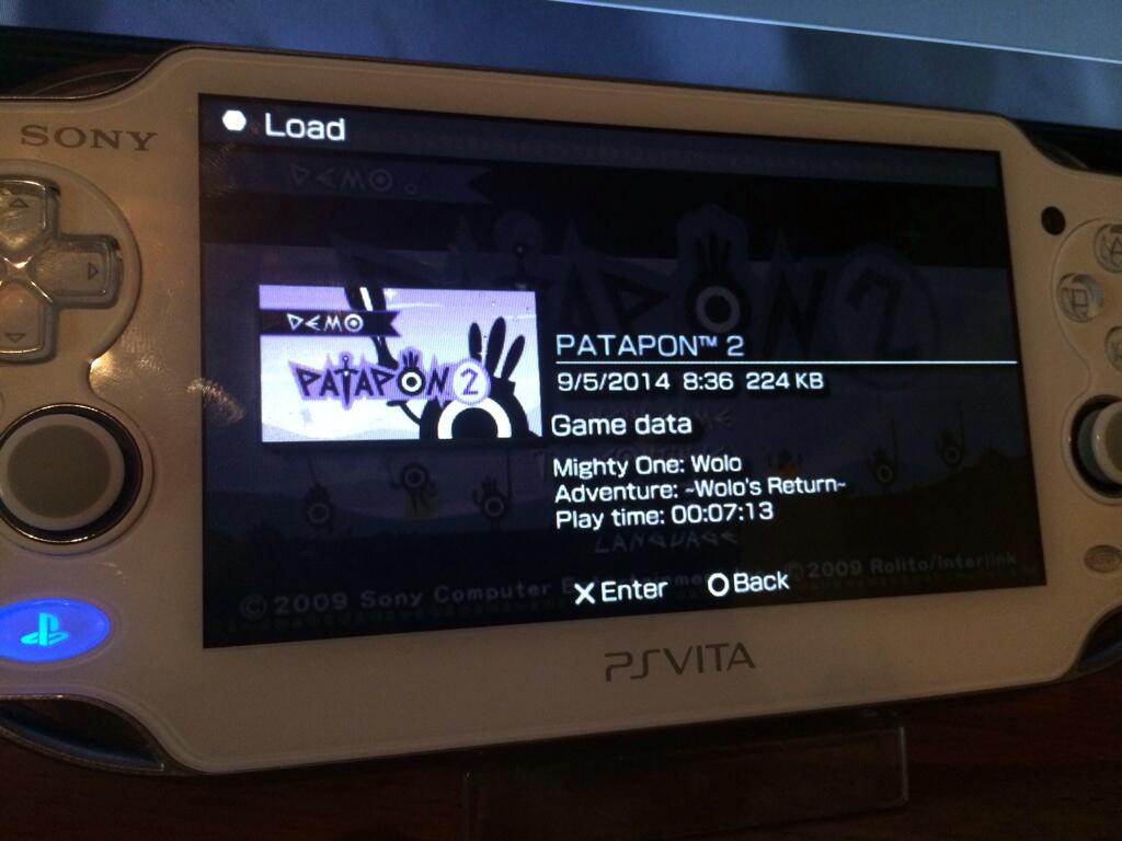 patapon 2 demo vita save
