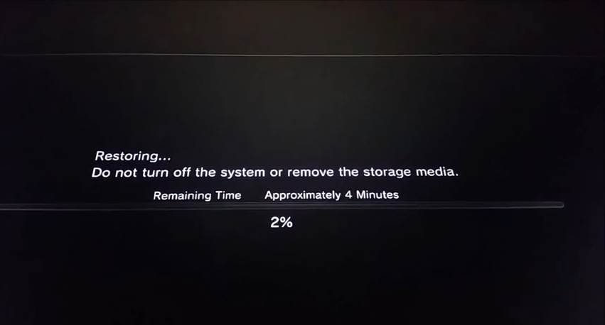 psp isos on ps3 - restore
