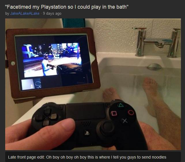 Look at the clever(?) way this guy found to remote play on