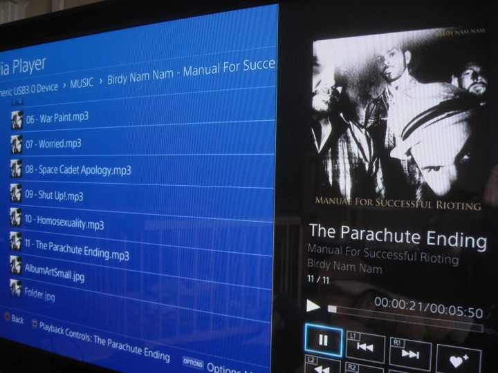 ps4 media player - music