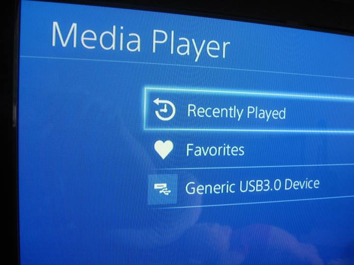 PS4 Media Player - usb