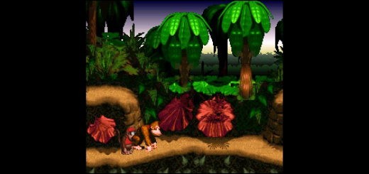 Full speed Donkey Kong Country on CATSFC-Libretro-Vita