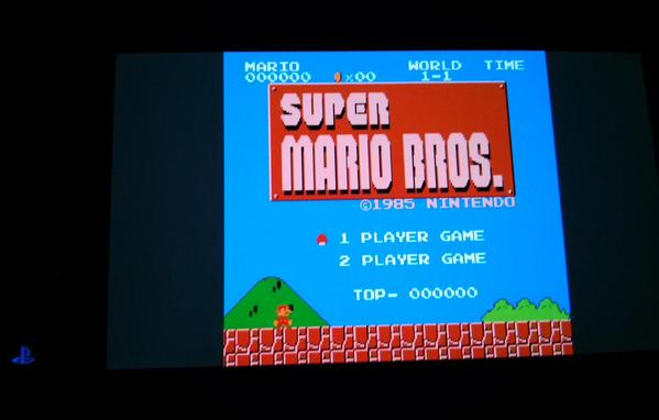 Retroarch running Super Mario Bros on PS Vita
