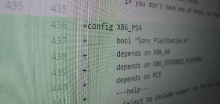 Linux on PS4 - Source code