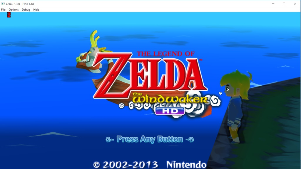Wii U emulator - Zelda Wind Maker running on Cemu 1.3.0