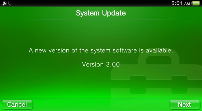 How to: manually updating to PS Vita firmware 3 60 - Wololo net