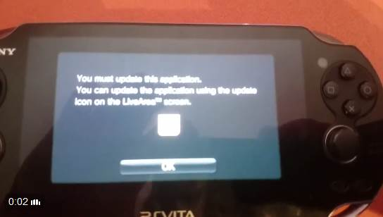 First attempt at downgrading the PSP emulator within the PS Vita. Not really successful