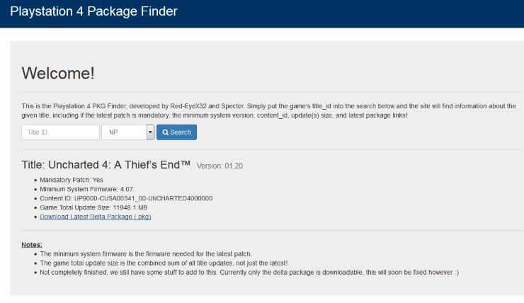 PS4 Package Finder - Wololo net