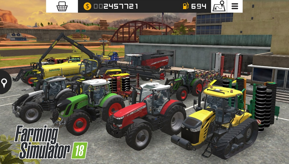 Farming Simulator 18 PSVita Screenshot User Interface