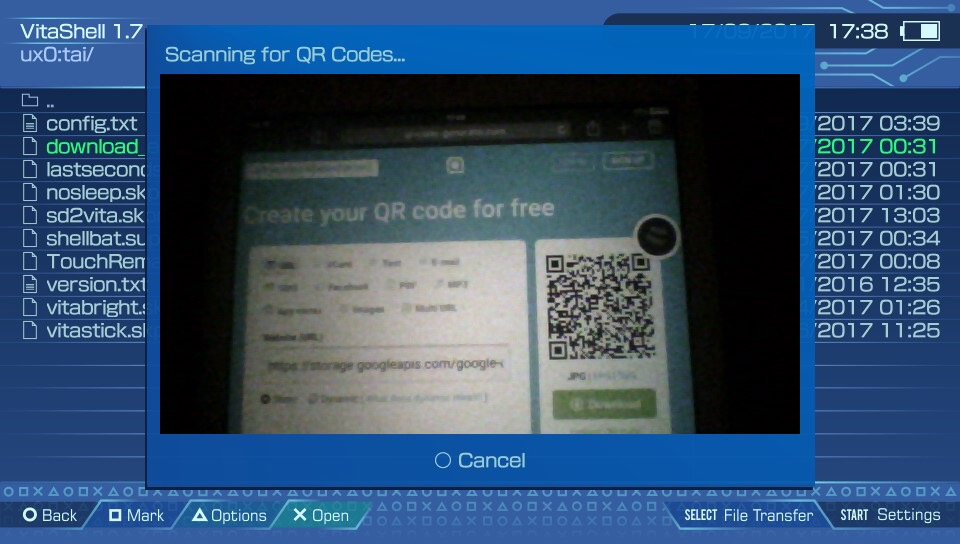 Tutorial: How to use VitaShell's new QR code reader to