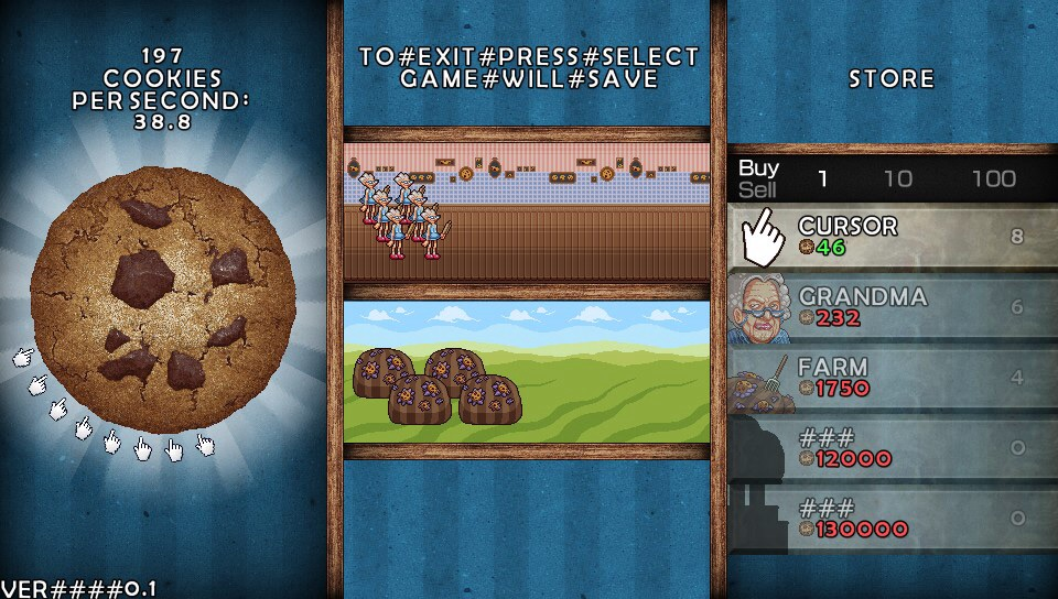 Cookie Clicker released on the PSVita - More time wasting