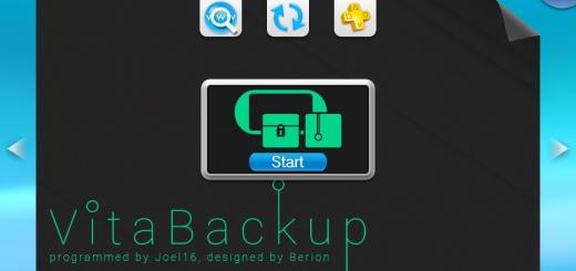 VitaBackup released! - Backup your important Vita data