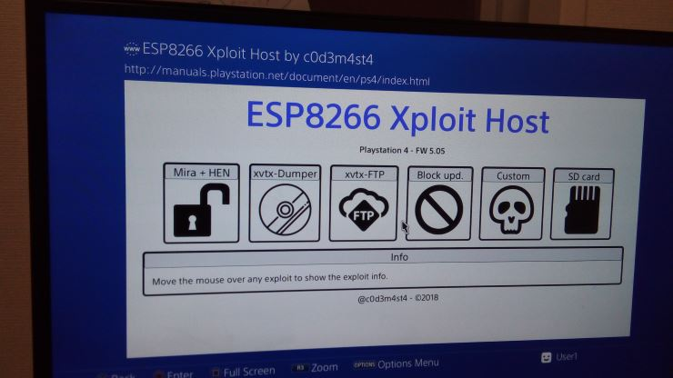 How to: set up the 5 05 PS4 exploit on your ESP8266 Device