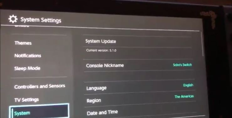 HBL Update: Nintendo Switch Firmware 5.1.0 Is Out