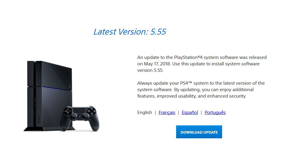 version 5.55 ps4
