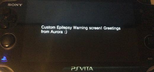 Custom Warning released - Mod your Epilepsy Warning screen on your PSVita to your liking!