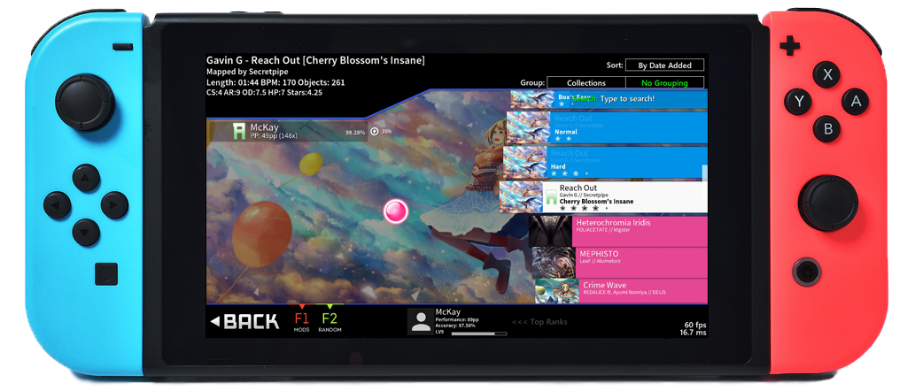 Switch releases: Unofficial osu! client released and
