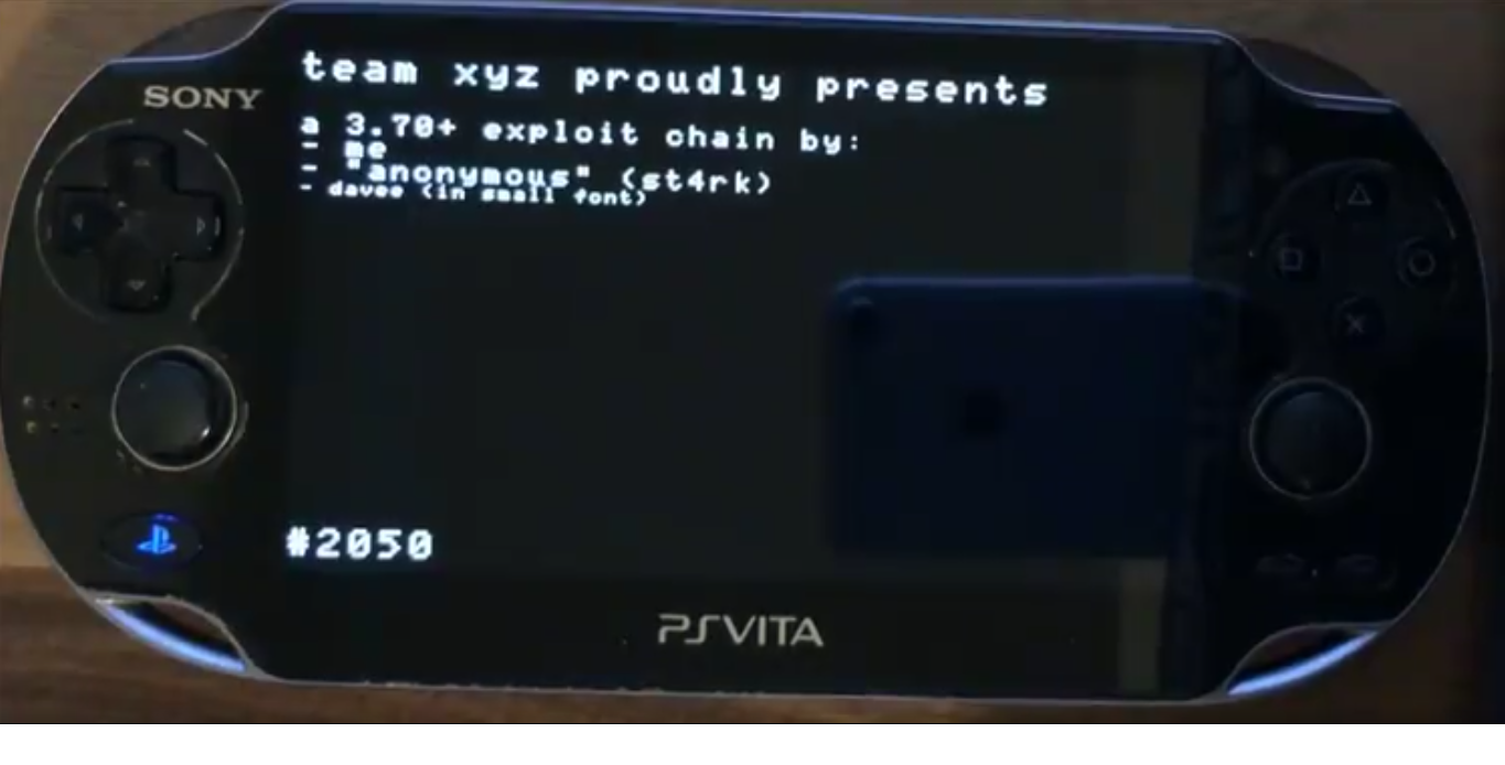 Team XYZ shows off FW 3 70 hack for the PSVita / PSTV and