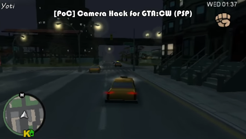RealYoti working on GTA: Chinatown Wars 3D perspective mod