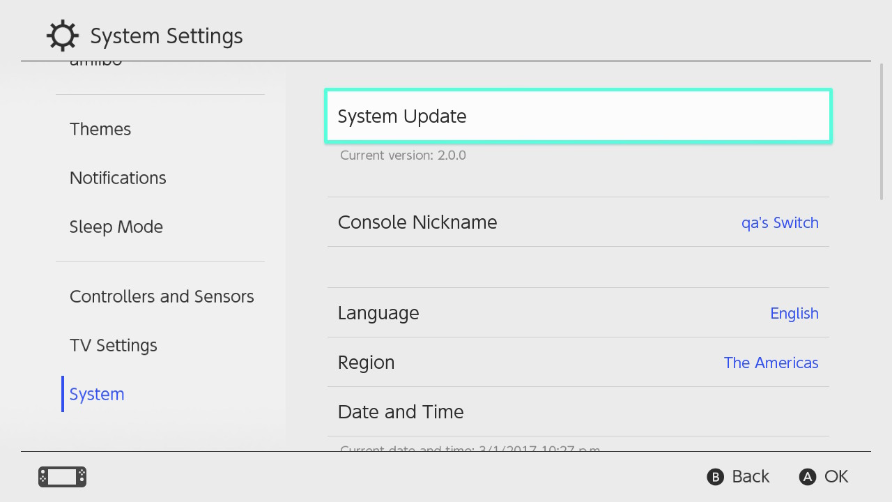 Switch Firmware 8 0 0 released with a couple of useful