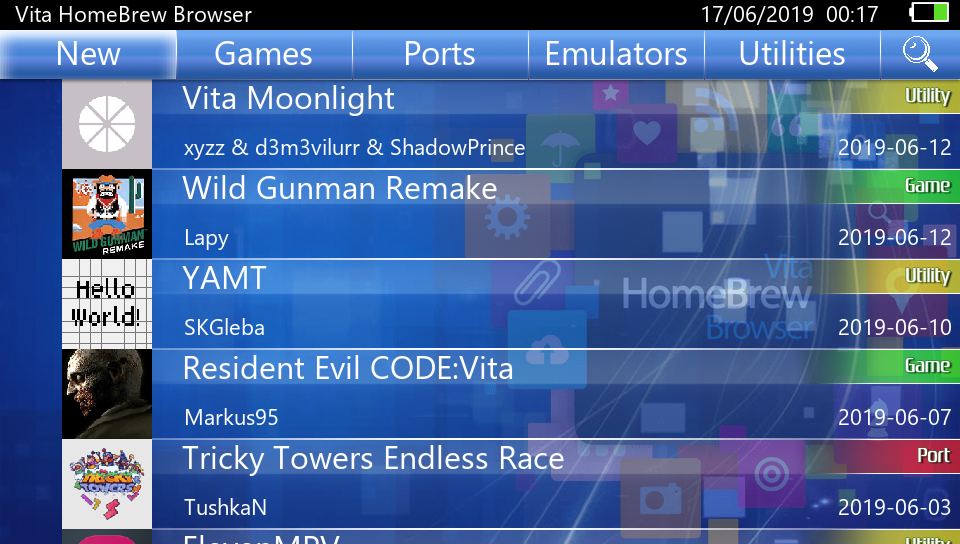 Vita Homebrew Browser (VHBB) 0 90 Released - Search