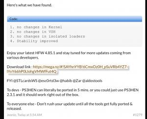 PS3 News: Firmware 4 85 released and HFW 4 85 1 already