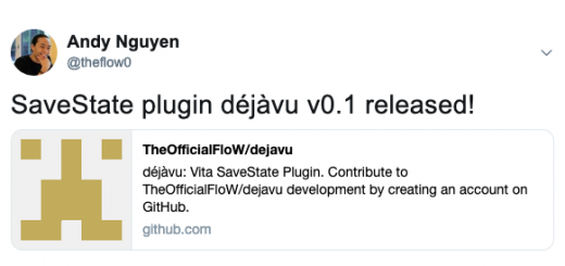PSVita Release: TheFlow releases DejaVu giving you savestate functionality! - Plugin currently in experimental stage with some caveats