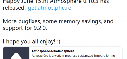 Switch News: Nintendo releases FW 9.2.0 & Atmosphere 0.10.3 released with FW 9.2.0 support, improvements to memory usage and more!