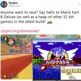 Emulation News: Ryujinx can now run Mario Kart 8 Deluxe pretty well thanks to 32-bit ARM binary support & byuu, higan, bsnes all receive notable improvements including massive performance boost in byuu!