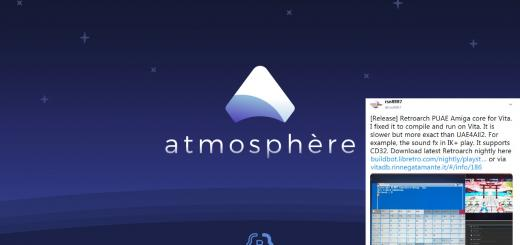 Switch & PSVita Releases: Atmosphere 0.10.5 with LayeredFS improvements, Staybright for the Vita which disables screen auto-dimming buts keeps suspend together with RetroArch core updates for both!