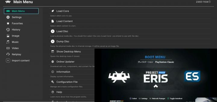 Emulation & PS Classic News: RetroArch 1.8.5 released changing the default UI to Ozone (Switch UI), adding P-UAE & ECWolf cores for the PSVita & more + a quick look at Project Eris, BleemSync's successor for the PS Classic!