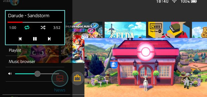 Switch Releases & Emulation News: Sys-tune, a background audio player with a Tesla overlay, released & Pokémon Sword and Shield Softlocks in Yuzu fixed following a tiny fix!