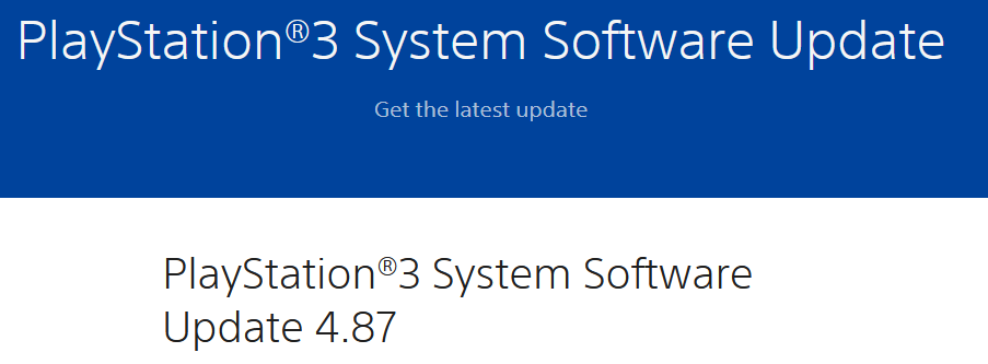 PlayStation 3: Sony releases Firmware 4.87 for their 14 year old console - HFW 4.87.1 is already out with SEN Enabler already being updated to spoof FW 4.87