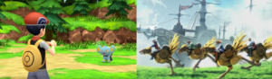 Comparing potential graphics between the new Pokemon and FF3